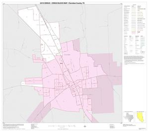 Primary view of object titled '2010 Census County Block Map: Cherokee County, Inset I01'.