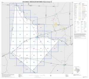 Primary view of object titled '2010 Census County Block Map: Reeves County, Index'.