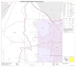 Primary view of object titled '2010 Census County Block Map: Hutchinson County, Inset C03'.