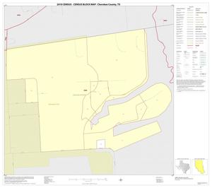Primary view of object titled '2010 Census County Block Map: Cherokee County, Inset E01'.