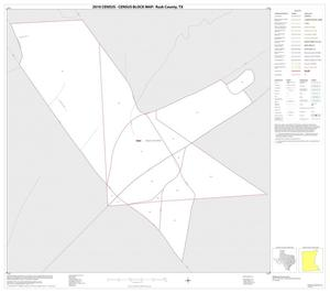 Primary view of object titled '2010 Census County Block Map: Rusk County, Inset A01'.