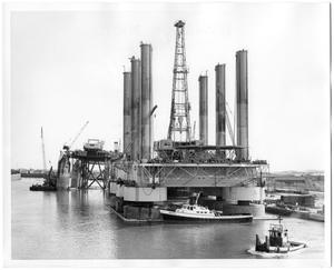 Primary view of object titled '[Drilling Rig in Open Water]'.