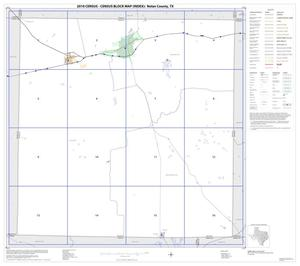 Primary view of object titled '2010 Census County Block Map: Nolan County, Index'.
