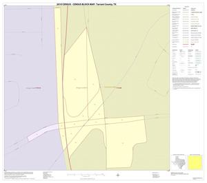 Primary view of object titled '2010 Census County Block Map: Tarrant County, Inset T01'.