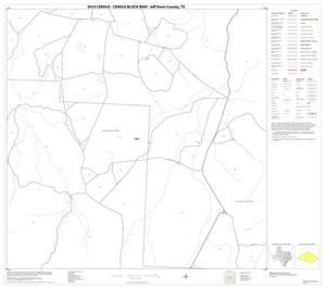 Primary view of object titled '2010 Census County Block Map: Jeff Davis County, Block 11'.