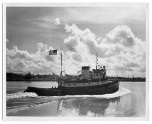 "Primary view of object titled '[Photograph of Tug ""Supco VII""]'."