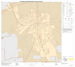 Primary view of object titled '2010 Census County Block Map: Henderson County, Inset E01'.