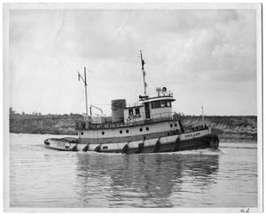 "Primary view of object titled '[Photograph of Tug ""Driller""]'."