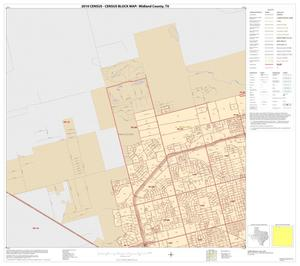Primary view of object titled '2010 Census County Block Map: Midland County, Inset A01'.
