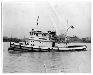 "Primary view of object titled '[Photograph of Tug ""D.D. Debardeleben""]'."
