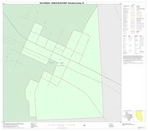 Primary view of object titled '2010 Census County Block Map: Cherokee County, Inset J01'.