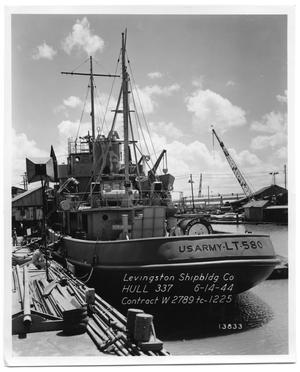 "Primary view of object titled '[Photograph of Ship ""U.S. Army-LT-580""]'."