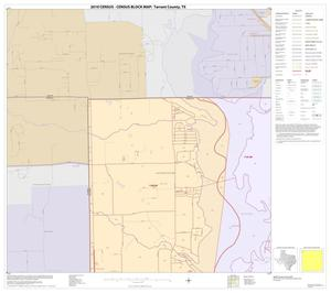 Primary view of object titled '2010 Census County Block Map: Tarrant County, Block 1'.