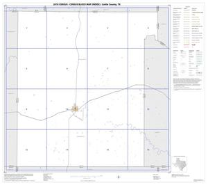 Primary view of object titled '2010 Census County Block Map: Cottle County, Index'.