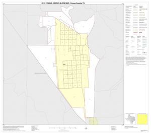 Primary view of object titled '2010 Census County Block Map: Carson County, Inset A01'.