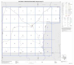 Primary view of object titled '2010 Census County Block Map: Edwards County, Index'.