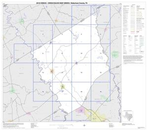 Primary view of object titled '2010 Census County Block Map: Robertson County, Index'.
