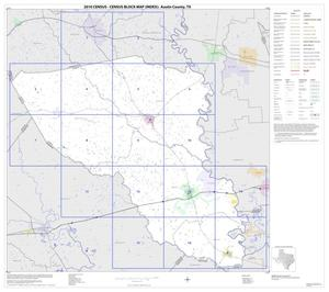 Primary view of object titled '2010 Census County Block Map: Austin County, Index'.