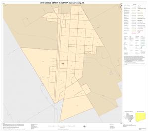 Primary view of object titled '2010 Census County Block Map: Johnson County, Inset J01'.