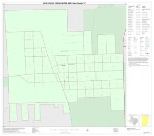 Primary view of object titled '2010 Census County Block Map: Hunt County, Inset I01'.