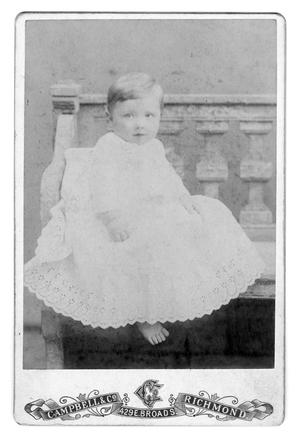 Primary view of object titled '[Unknown infant in white dress]'.
