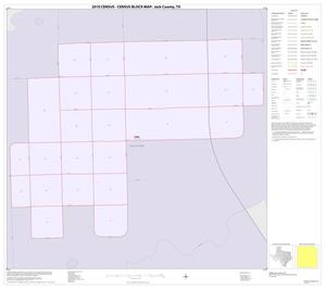 Primary view of object titled '2010 Census County Block Map: Jack County, Inset D01'.