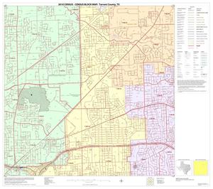 Primary view of object titled '2010 Census County Block Map: Tarrant County, Block 22'.