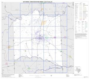 Primary view of object titled '2010 Census County Block Map: Lamar County, Index'.
