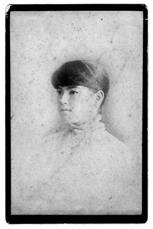 Primary view of object titled '[Portrait of Bell S. Bancroft]'.