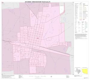 Primary view of object titled '2010 Census County Block Map: Wood County, Inset F01'.