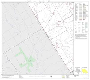 Primary view of object titled '2010 Census County Block Map: Hill County, Block 21'.
