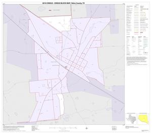 Primary view of object titled '2010 Census County Block Map: Rains County, Inset C01'.