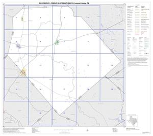 Primary view of object titled '2010 Census County Block Map: Lavaca County, Index'.