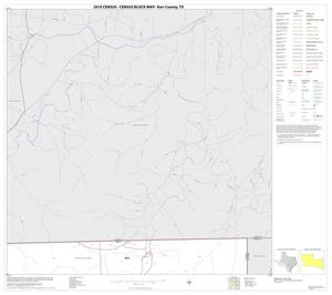 Primary view of object titled '2010 Census County Block Map: Kerr County, Block 13'.