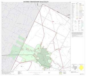 Primary view of object titled '2010 Census County Block Map: Bastrop County, Block 1'.