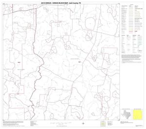 Primary view of object titled '2010 Census County Block Map: Jack County, Block 14'.