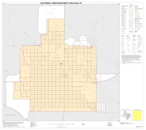 Primary view of object titled '2010 Census County Block Map: Cottle County, Inset A01'.