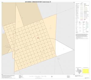 Primary view of object titled '2010 Census County Block Map: Zavala County, Inset A01'.