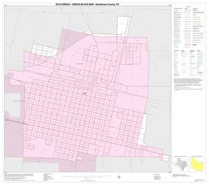 Primary view of object titled '2010 Census County Block Map: Hardeman County, Inset B01'.