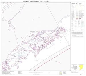 Primary view of object titled '2010 Census County Block Map: Calhoun County, Block 25'.