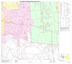 Primary view of object titled '2010 Census County Block Map: Gregg County, Block 8'.
