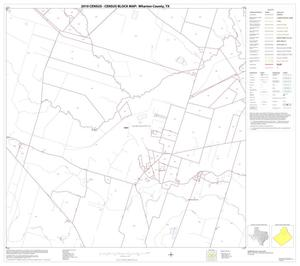 Primary view of object titled '2010 Census County Block Map: Wharton County, Block 9'.