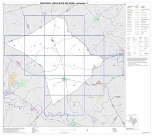 Primary view of object titled '2010 Census County Block Map: Lee County, Index'.