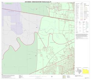 Primary view of object titled '2010 Census County Block Map: Wichita County, Inset E03'.