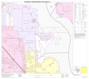 Primary view of object titled '2010 Census County Block Map: Denton County, Block 57'.