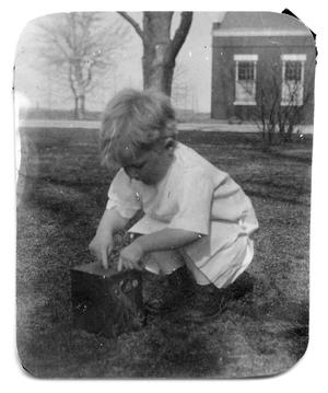 Primary view of object titled '[Boy playing with camera]'.