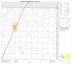 Primary view of object titled '2010 Census County Block Map: Terry County, Block 3'.