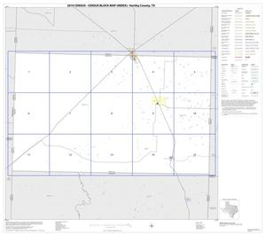 Primary view of object titled '2010 Census County Block Map: Hartley County, Index'.