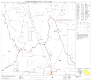 Primary view of object titled '2010 Census County Block Map: Liberty County, Block 10'.