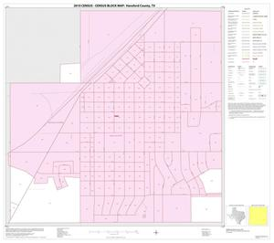 Primary view of object titled '2010 Census County Block Map: Hansford County, Inset C01'.